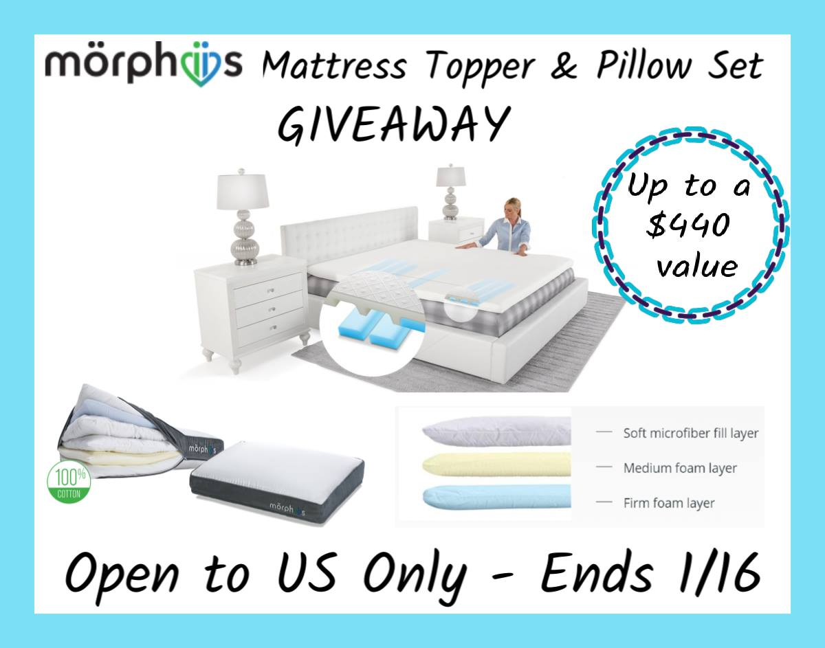 Customizable Mattress Topper and 2 pillows up to $440 value