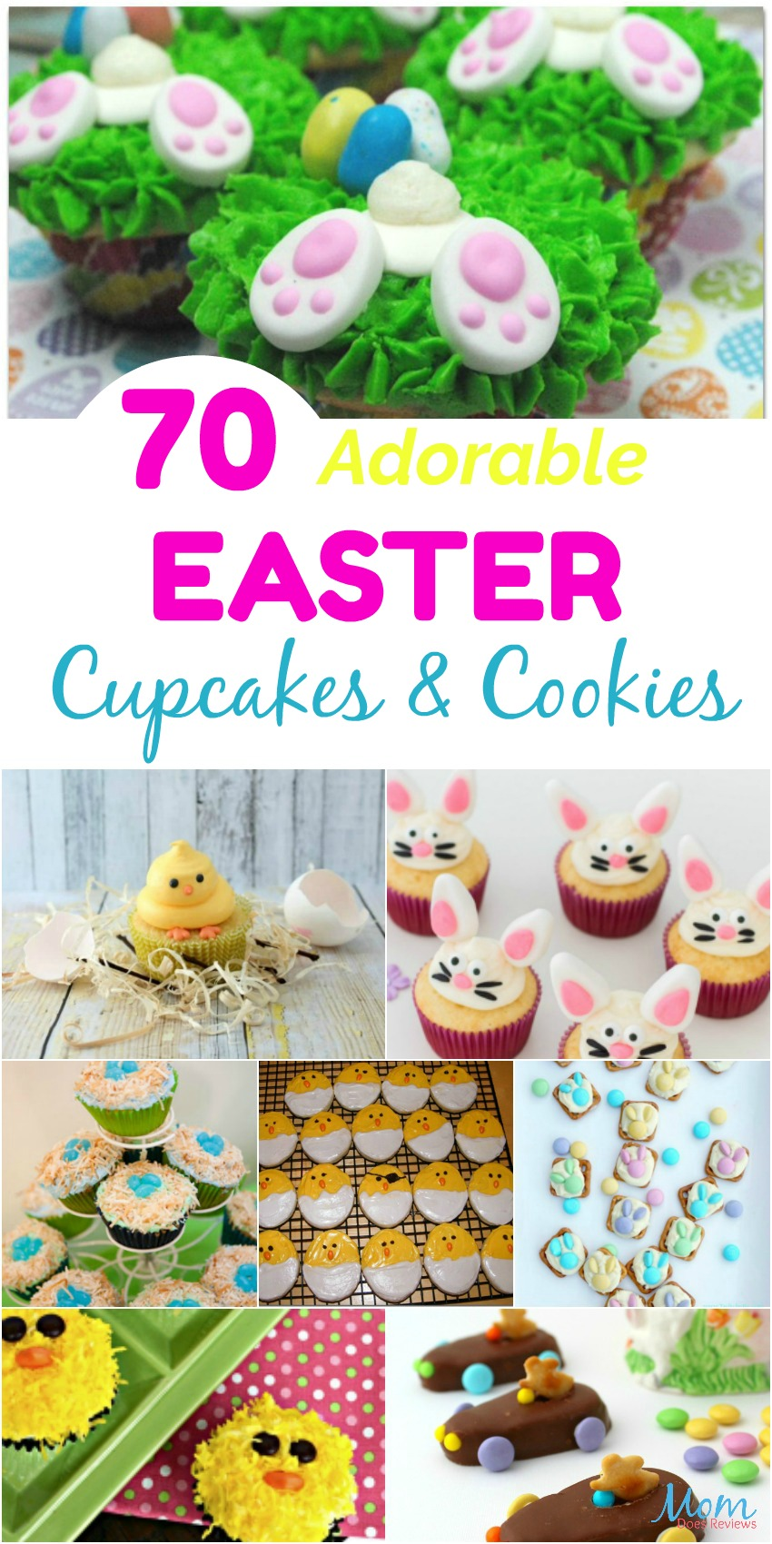 70 Adorable Easter Cupcakes & Cookies that will Bring a Smile #cookies #cupcakes #recipes #easter #sweettreats #getinmybelly #funfood
