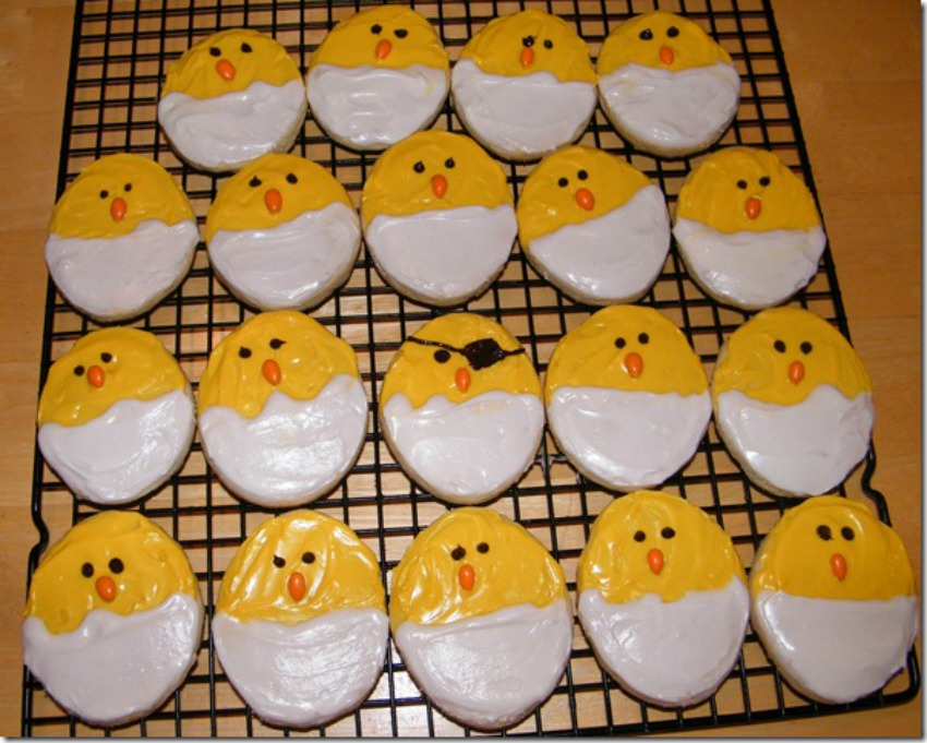 Baby Chick Sugar Cookies