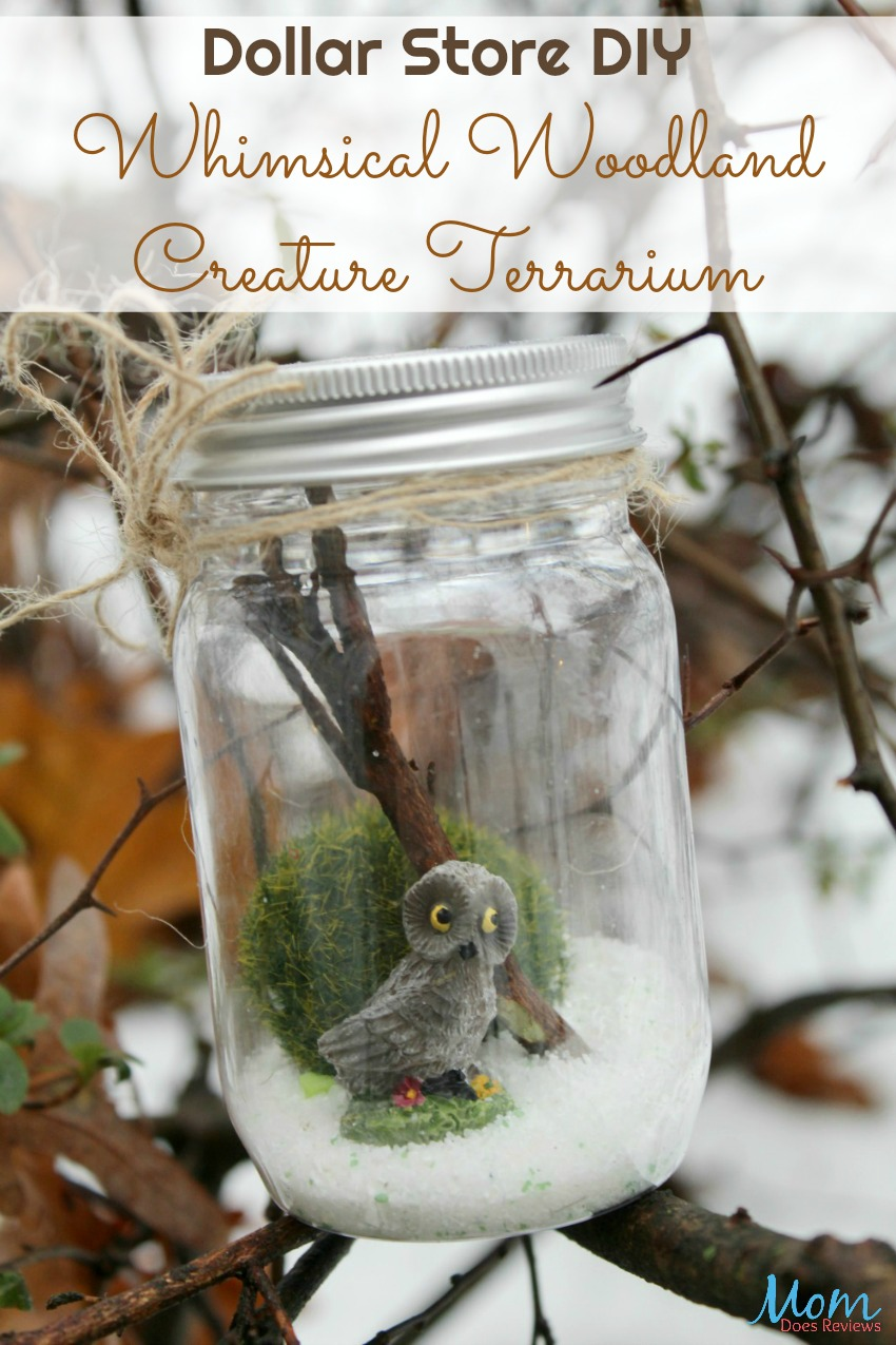Dollar Store Diy Whimsical Woodland Creature Terrarium Mom Does Reviews