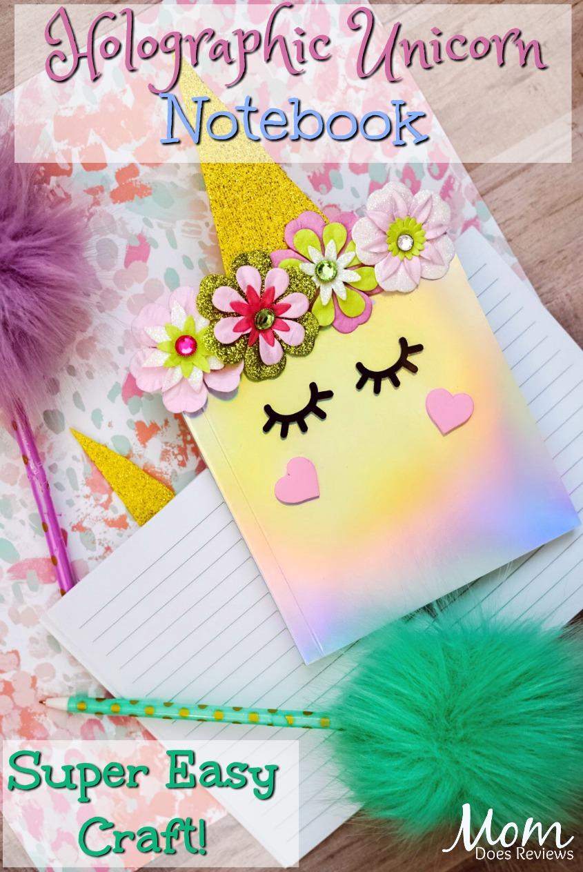 Holographic Unicorn Notebook #craft #unicorn #papercraft #funstuff #cutecraft