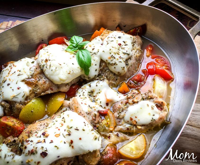 One Skillet Mozzarella Chicken Thighs Easy Keto Recipe Mom Does Reviews