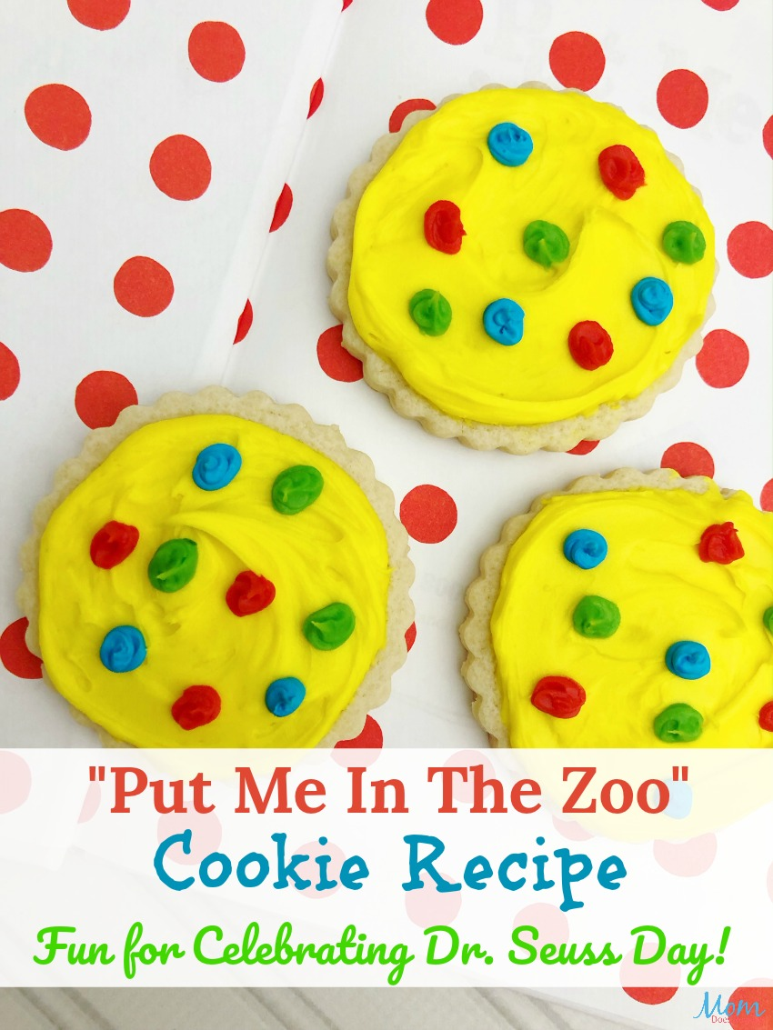 Put Me In The Zoo Cookie Recipe - Fun for Celebrating Dr. Seuss Day! #drseuss #cookies #funfood #desserts #sweettreats