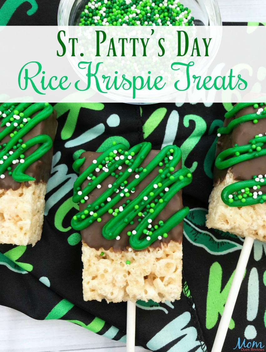 St. Patty's Day Rice Krispie Treats #Recipe #desserts #stpattysday #sweets #ricekrispietreats #funfood
