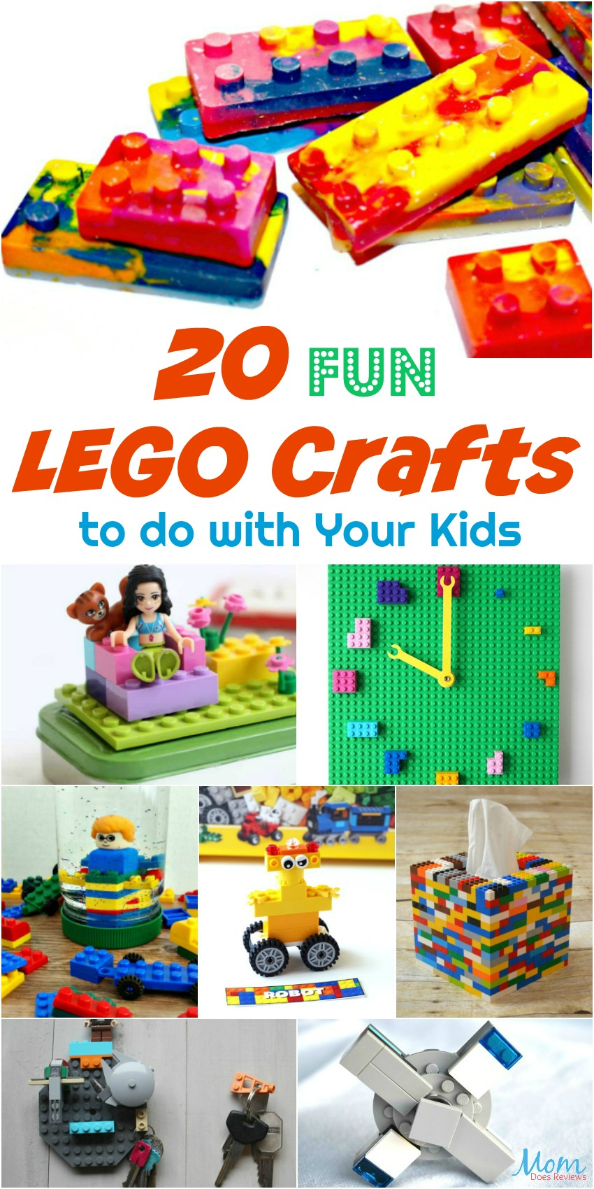 20 Fun LEGO Crafts to do with Your Kids #crafts #LEGOS #LEGO #funstuff #DIY