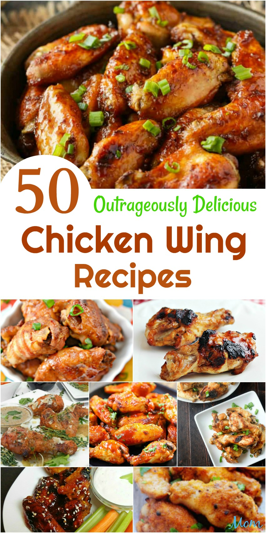 50 Outrageously Delicious Chicken Wing Recipes You Have to Add to the Menu #recipes #chicken #chickenwings #getinmybelly