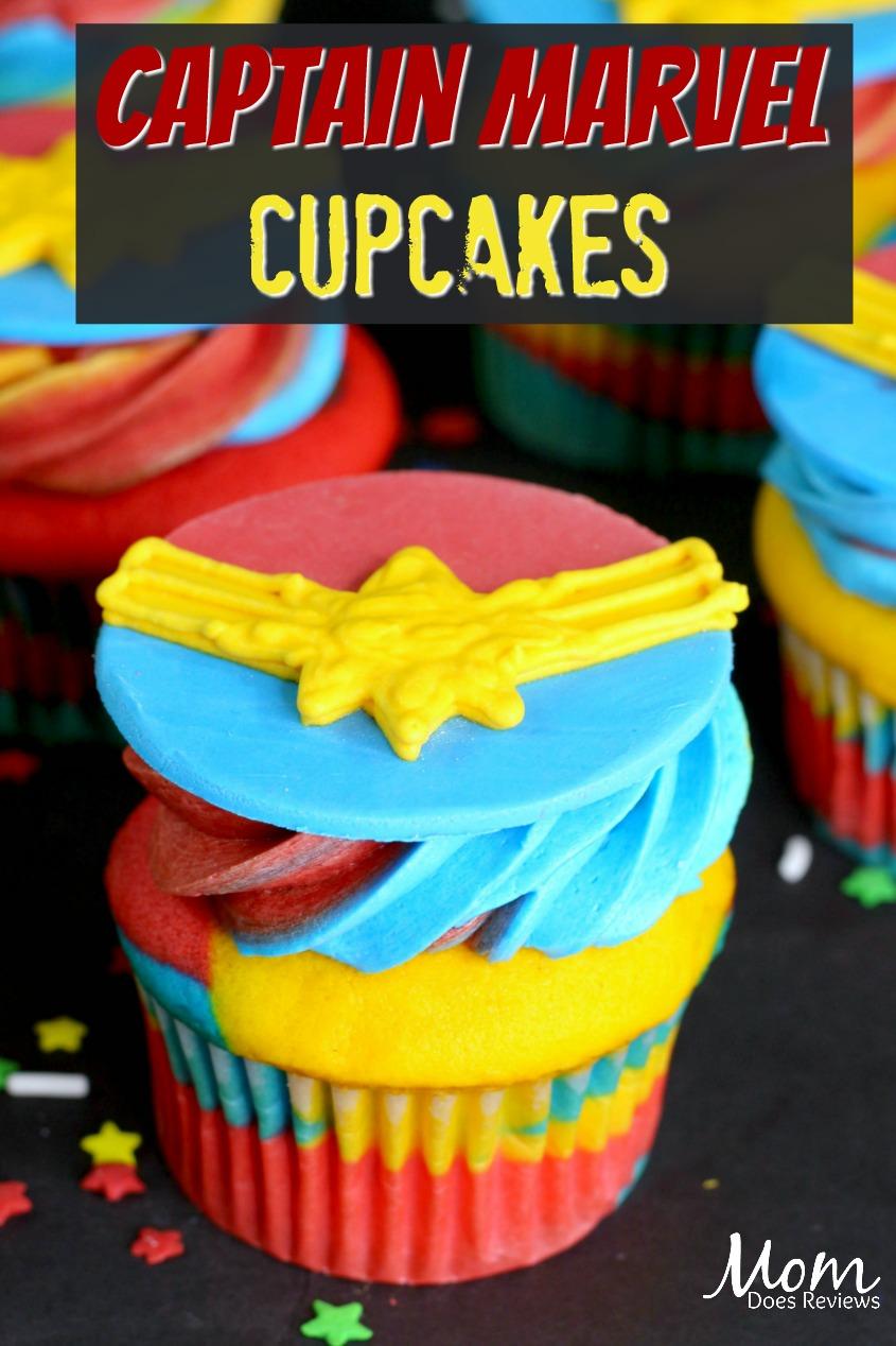Captain Marvel Cupcakes!