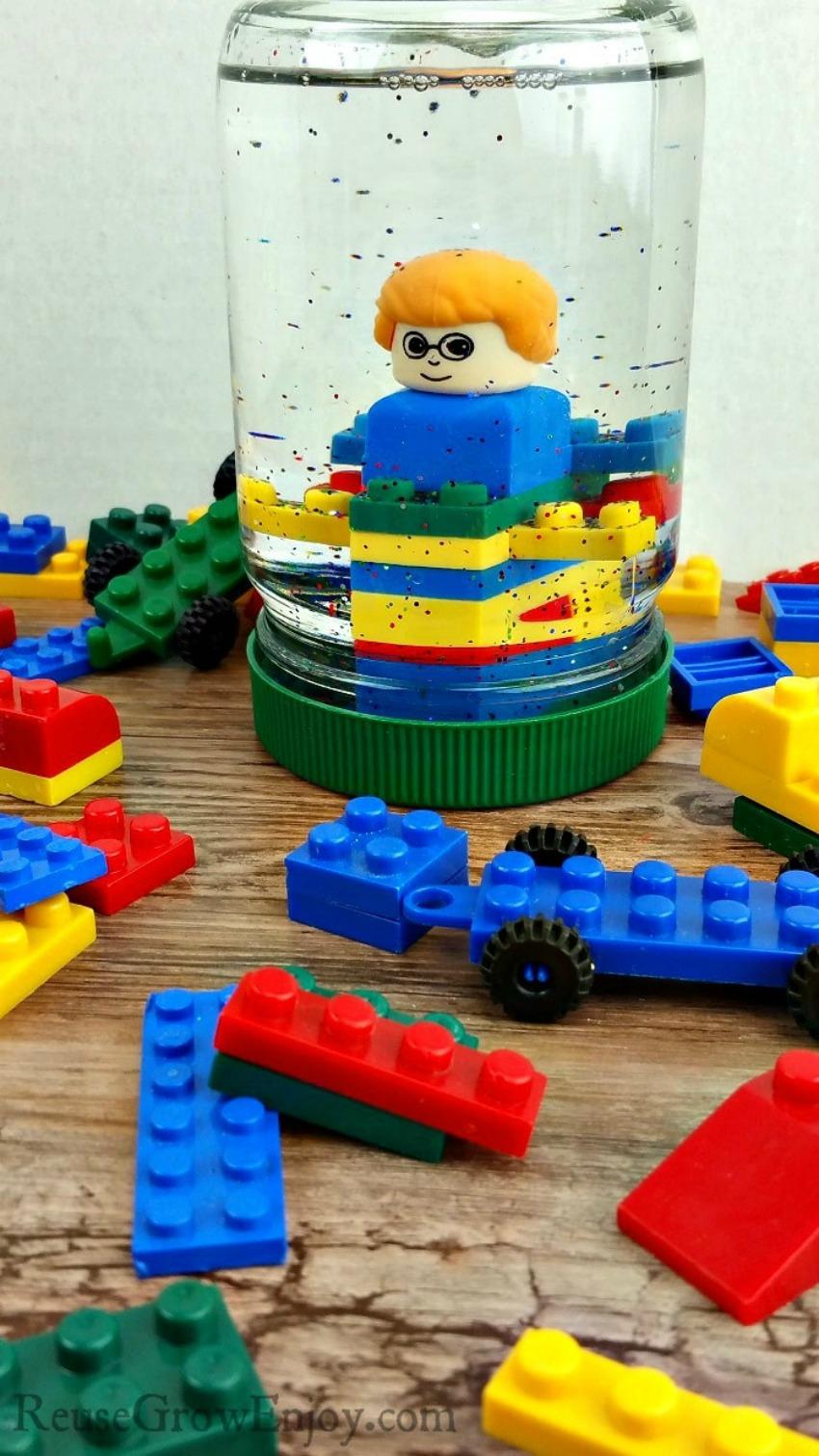 DIY LEGO Snow Globe