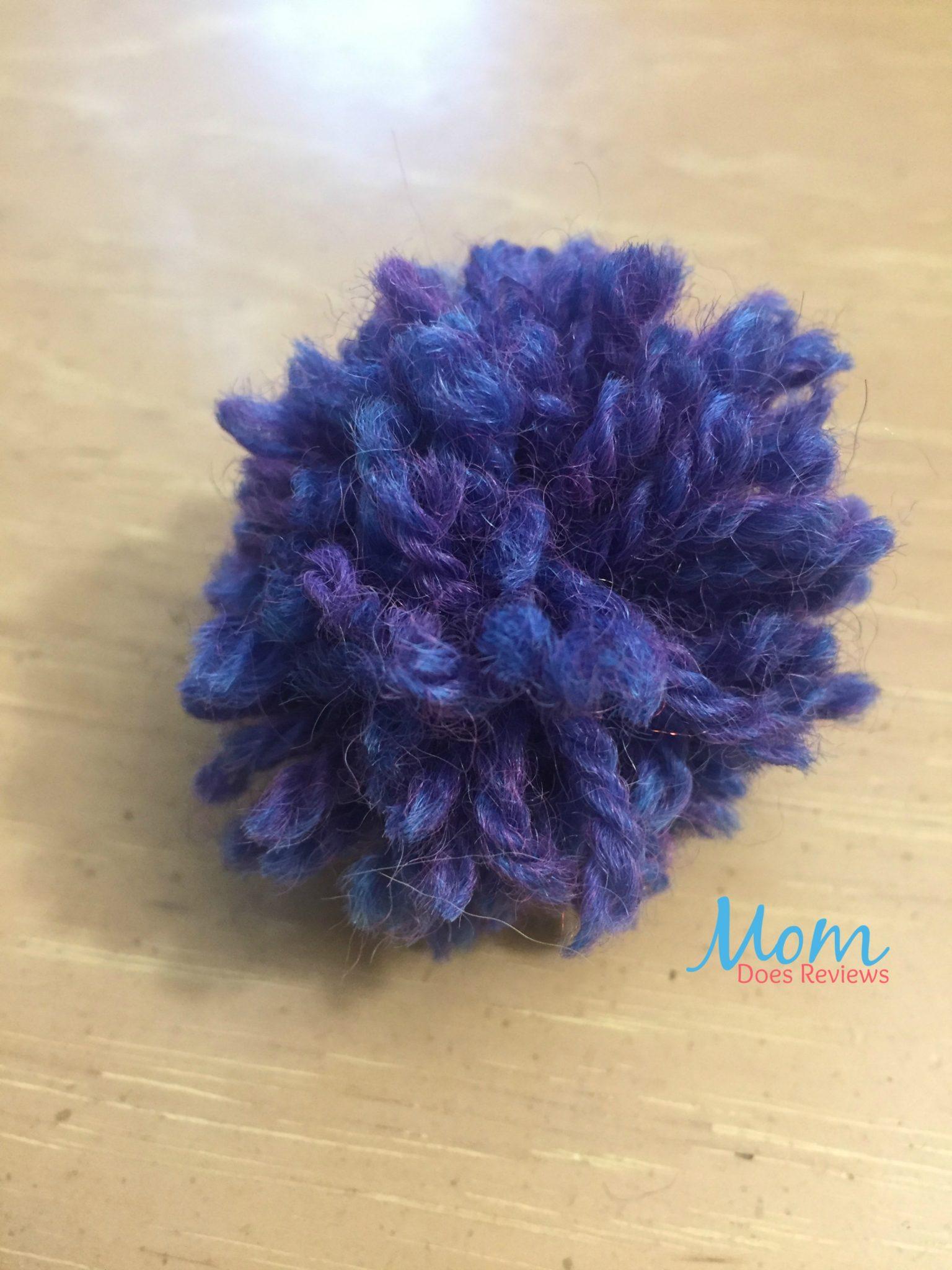 purple pompom