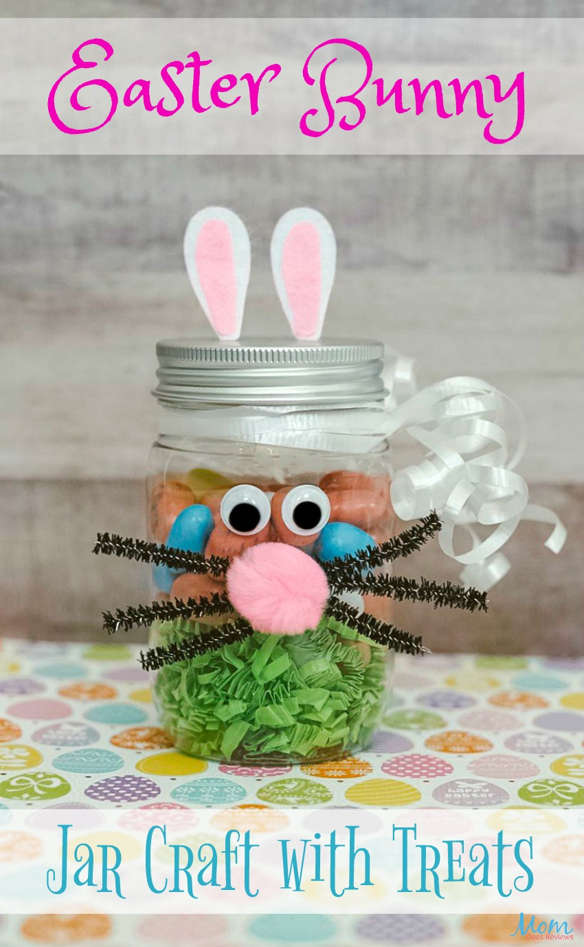 Easter Bunny Jar Craft: Perfect for Gifting this #Easter #craft #easterbunny #funstuff #diy #gifts