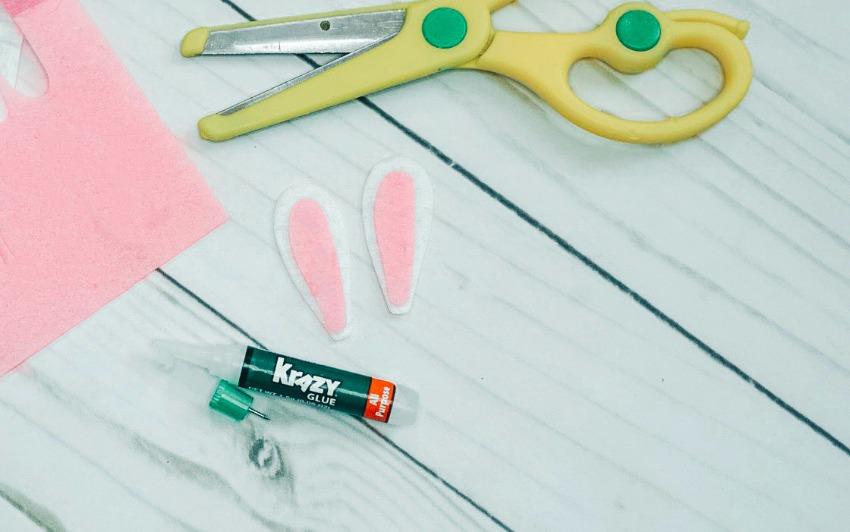 Easter Bunny Jar Craft process