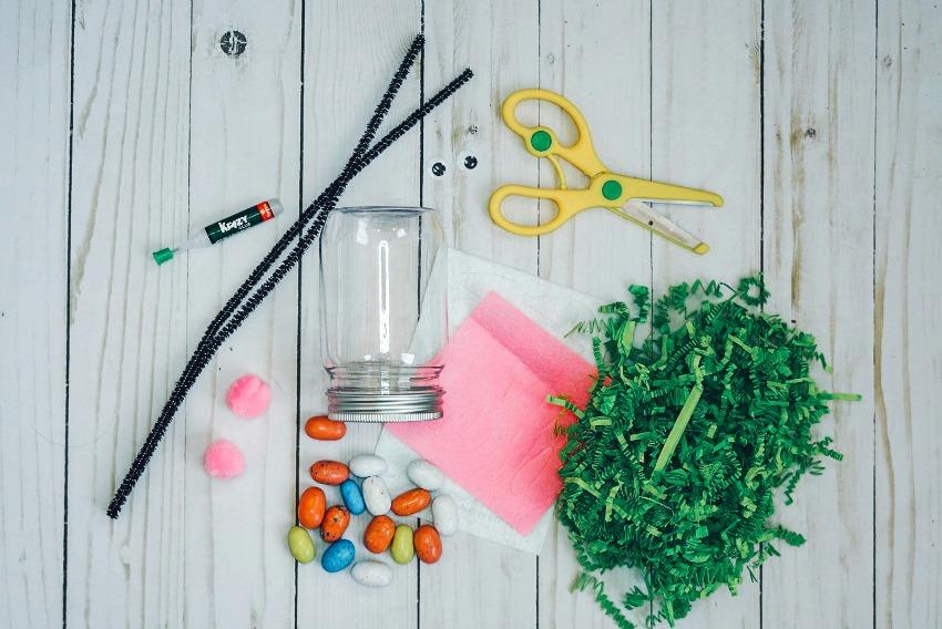 Easter Bunny Jar Craft supplies needed