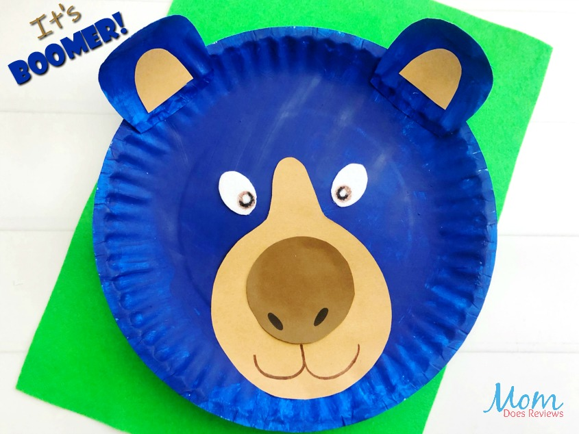 Easy Paper Plate Boomer Craft