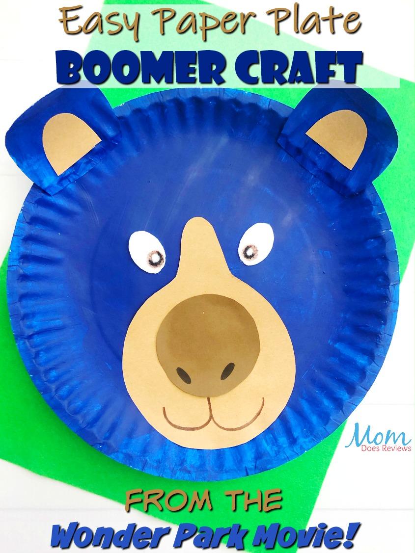 Easy Paper Plate Boomer Craft #easycraft #wonderpark #craftforkids #funstuff