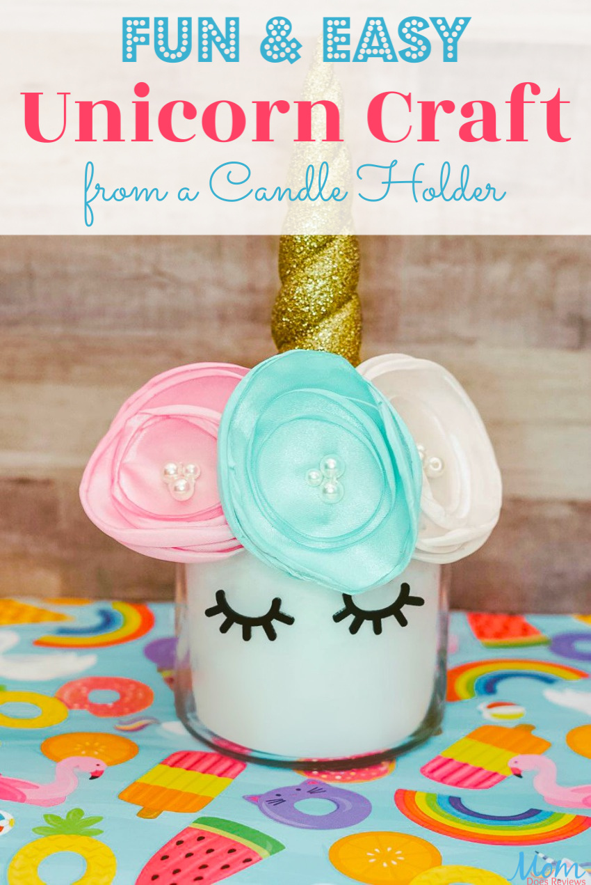 Fun & Easy Unicorn Craft from a Candle Holder #craft #diy #unicorns #funstuff