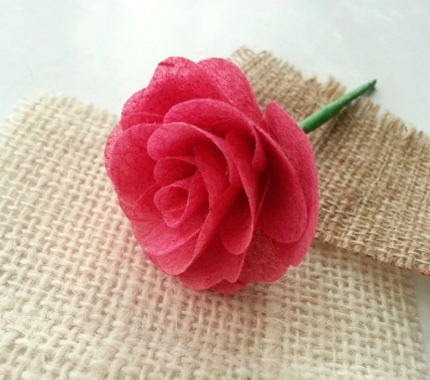Mulberry Paper Rose Tutorial Flower Craft