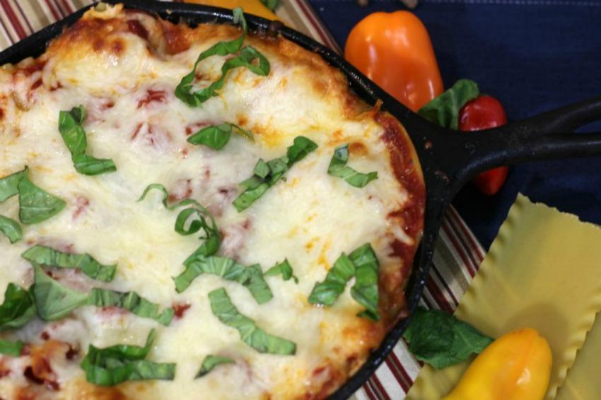 Rustic Kale Cast Iron Lasagna Recipe