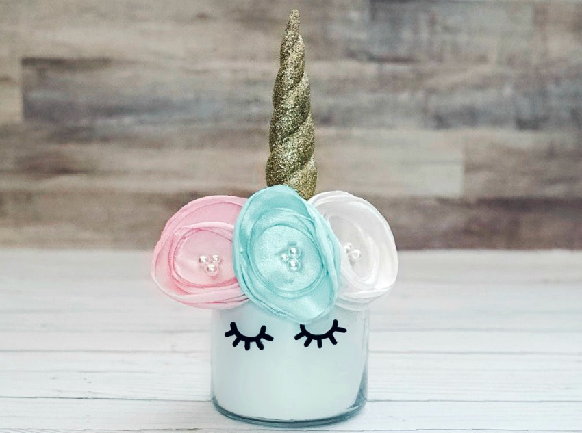 Unicorn Craft from a Candle Holder