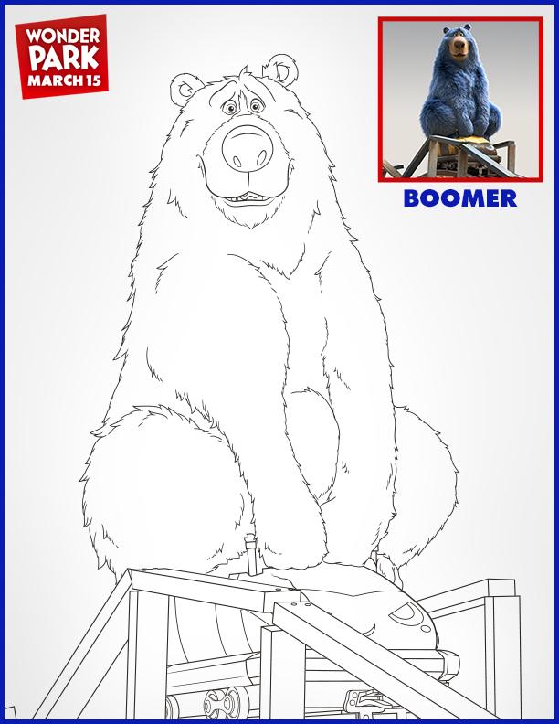 Wonder Park Boomer Coloring Page