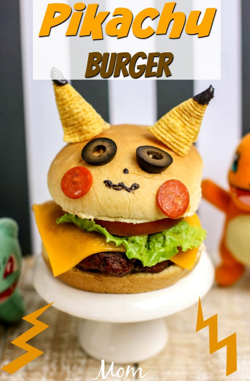 Pikachu Burger- Perfect for Pokemon Fans! #DetectivePikachu