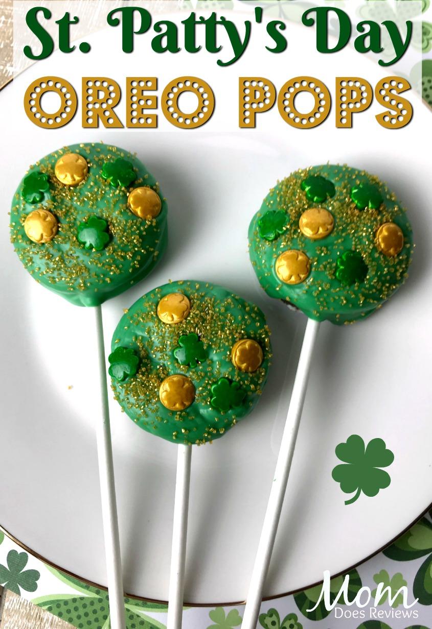 Lucky St. Patrick's Day Oreo Pops #sweets #desserts #funfoods #stpattysday #oreos
