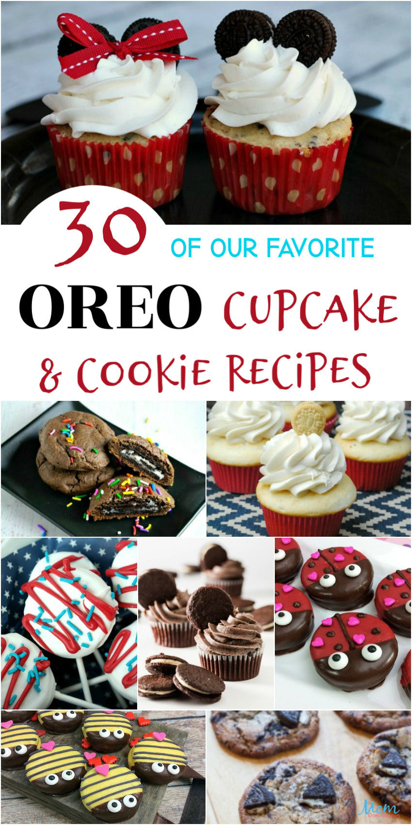 30 of our Favorite Oreo Cupcakes & Cookie #Recipes #desserts #oreo #cupcakes #cookies #getinmybelly
