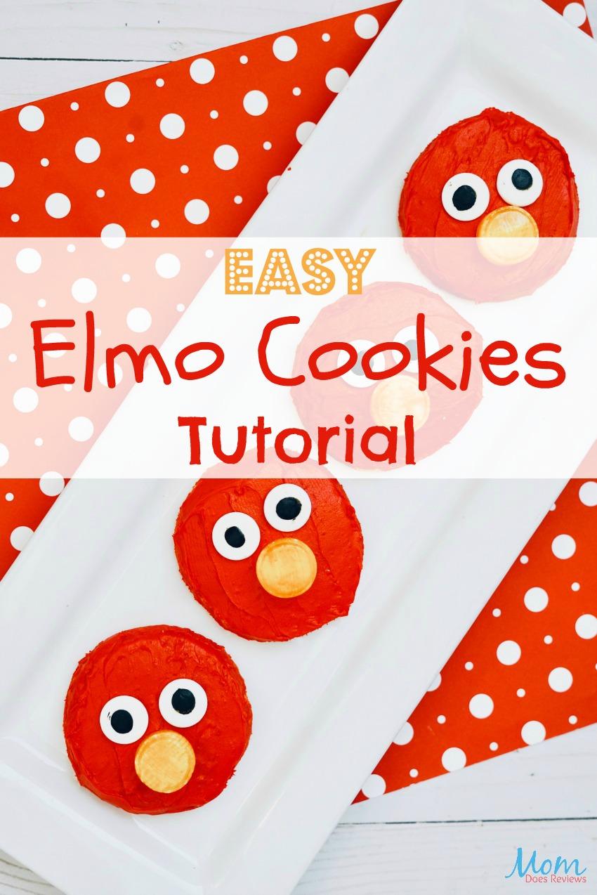Easy Elmo Cookies Tutorial #recipe #cookies #elmo #sesamestreet #funfood