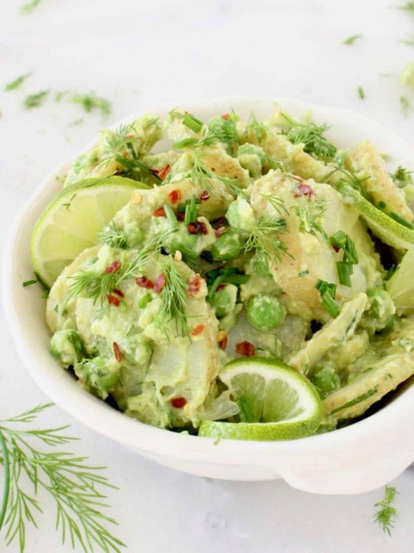 Healthy Avocado Potato Salad – Vegan