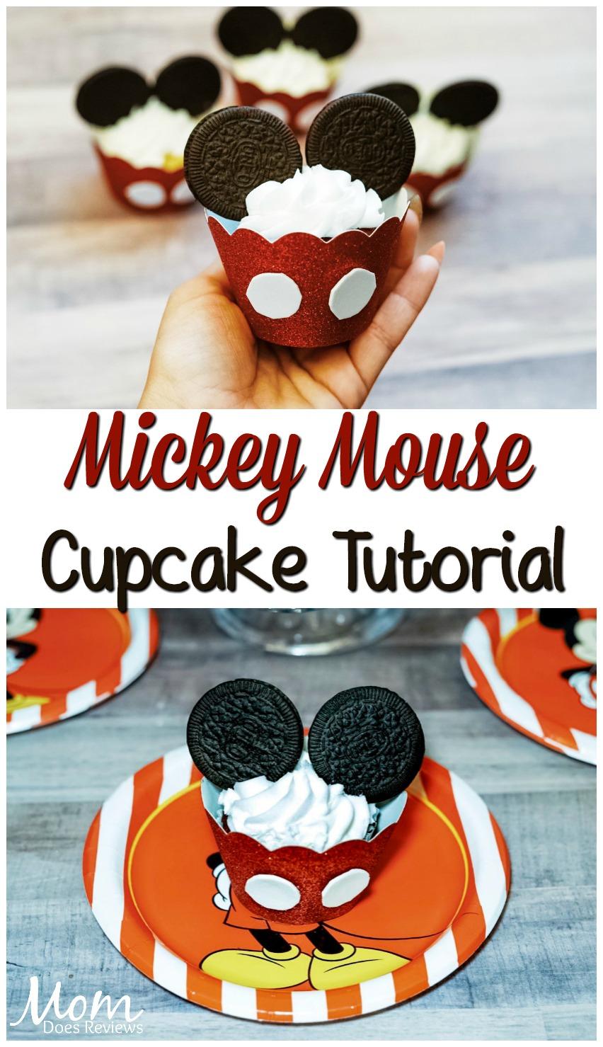 Mickey Mouse Cupcake Tutorial! #disney #cupcakes #food #birthdayparty #mickeymouse #yummy