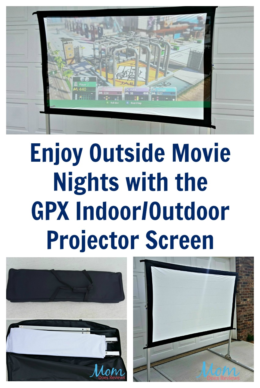 Enjoy Outside Movie Nights With The Gpx Indoor Outdoor Projector Screen Springfunonmdr Mom
