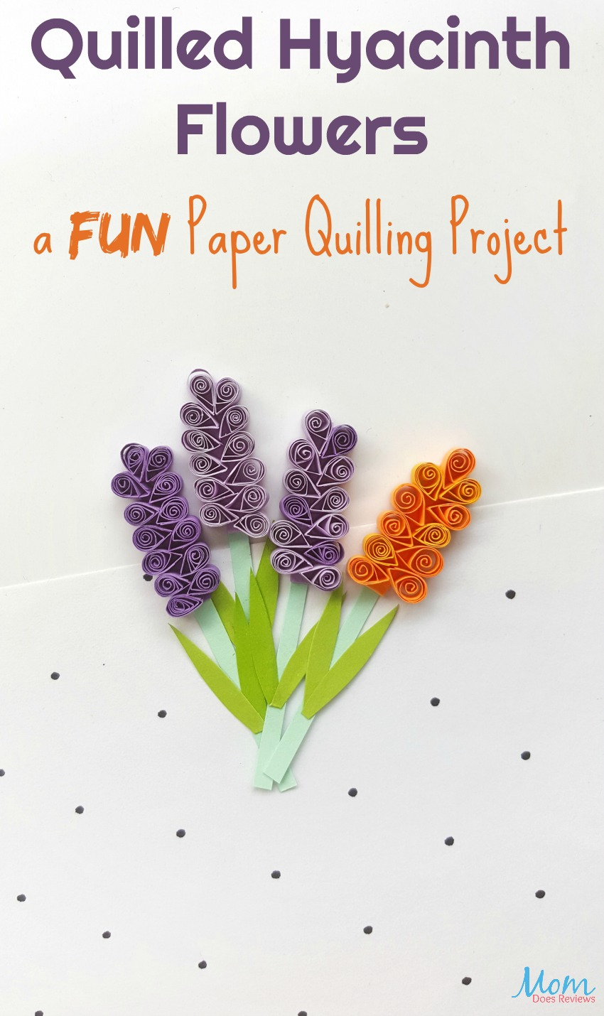 Quilled Hyacinth Flowers: a FUN Paper Quilling Project #craft #diy #flowers #papercraft