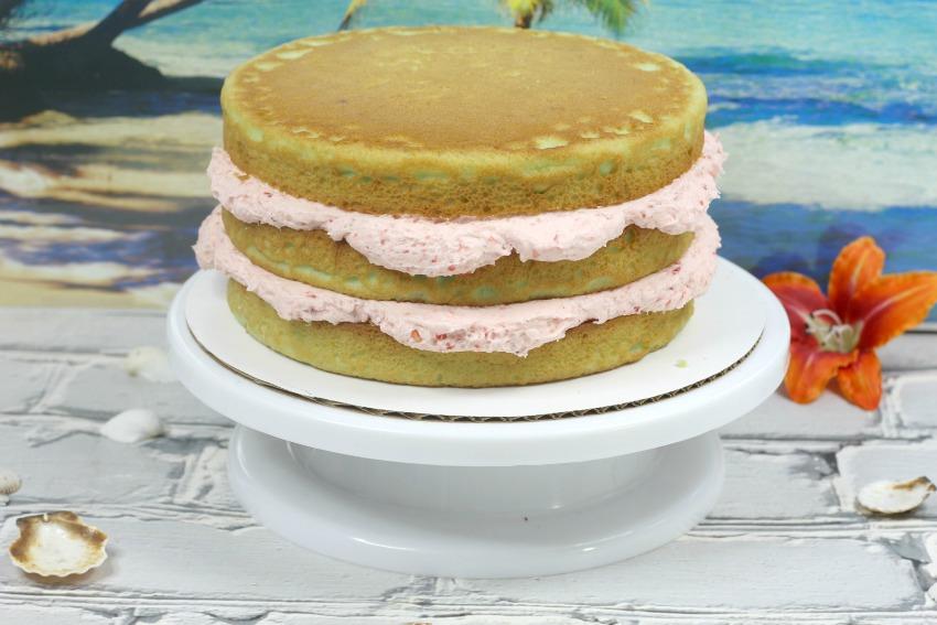 Strawberry Lime Cake process