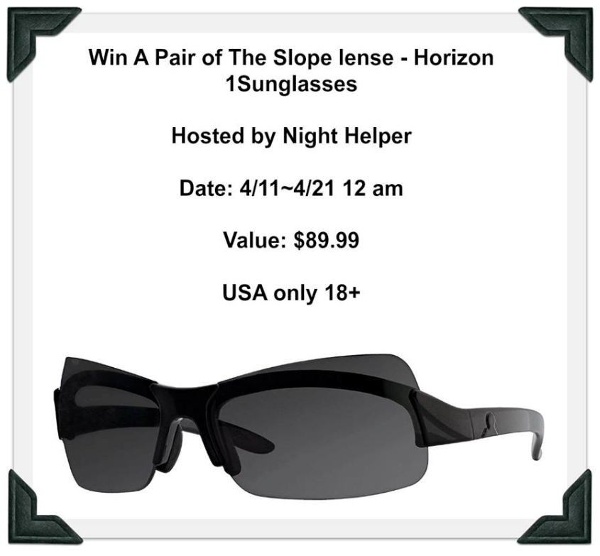 #Win A Pair Of Horizon 1 sunglasses, Slope lenses ($90 arv) US only, ends 4/20