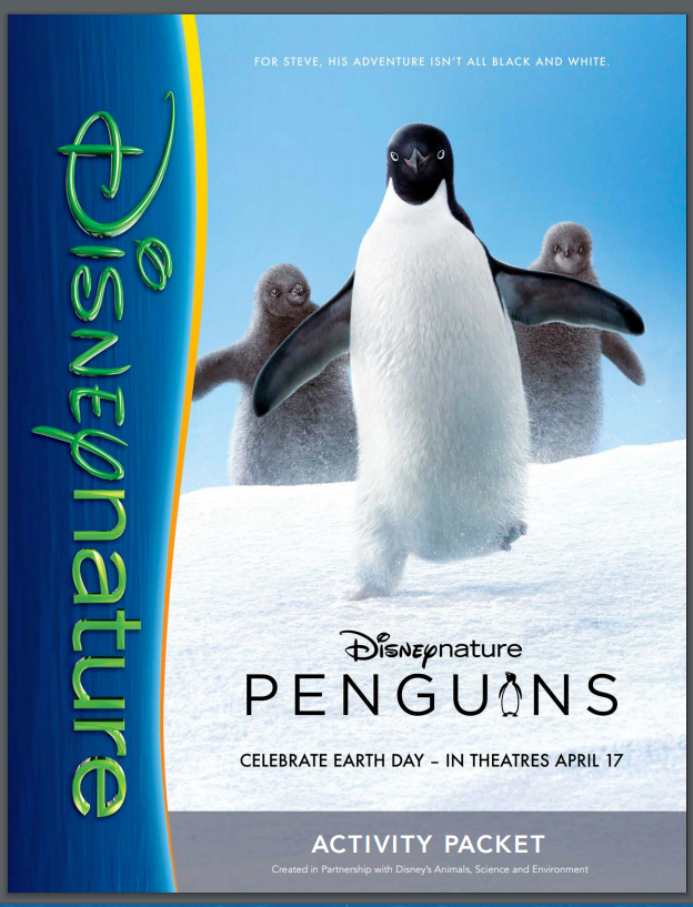 """""""Penguins"""" Opens in Theaters 4/17! and Free #Printables #EarthDay"""