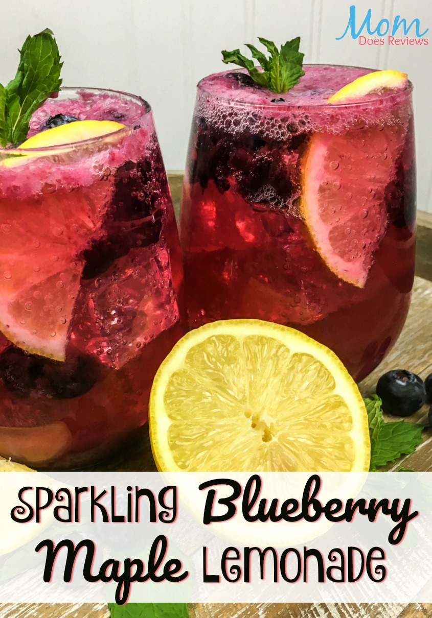 Sparkling Blueberry Maple Lemonade #beverage #lemonade #foodie #drink #blueberry