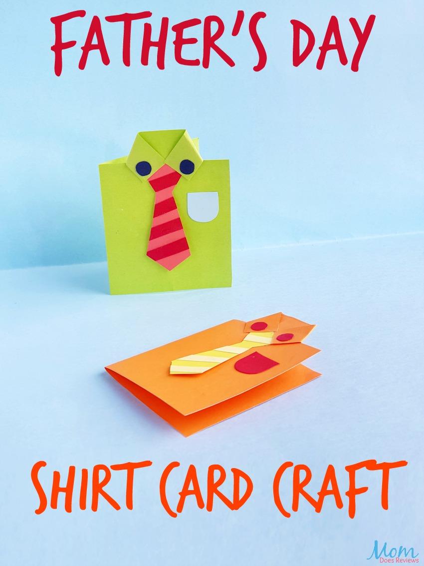 Father's Day Shirt Card Craft #papercraft #funstuff #diy #fathersday #craft
