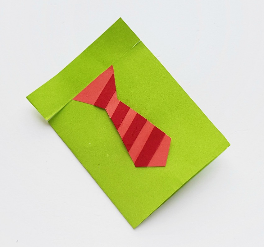 Father's Day Shirt Card Craft process