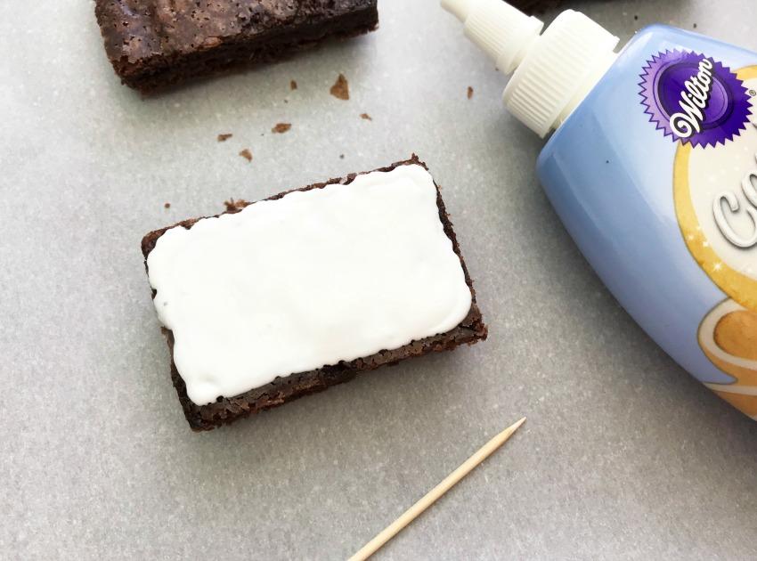 Patriotic Flag brownies process