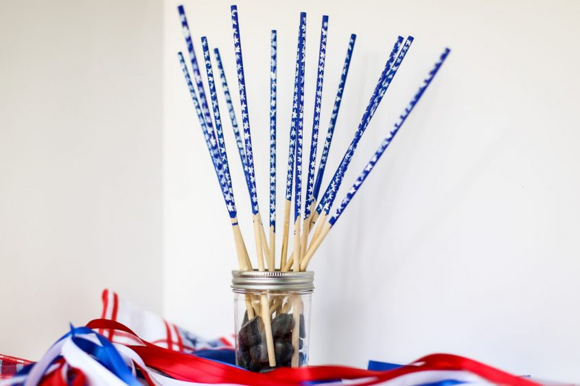 Make Your Own American Flag Wand!