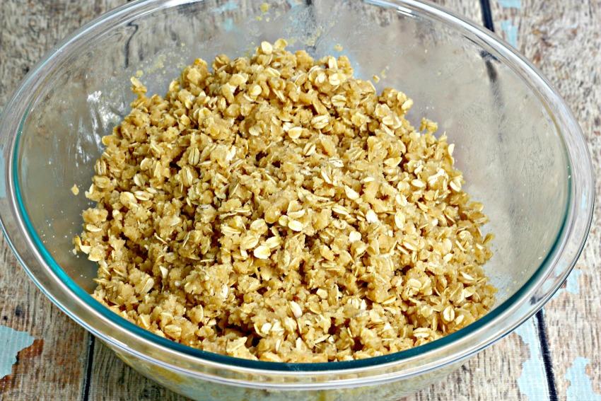 Lemon Crumb Bars process