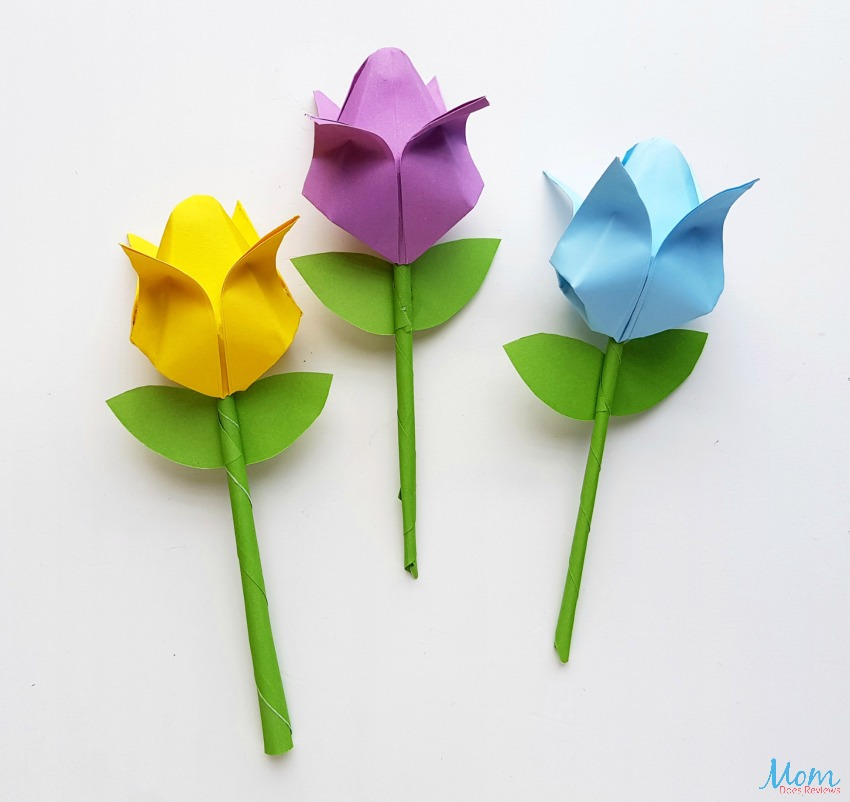 Origami Tulips: A Fun Paper Craft!