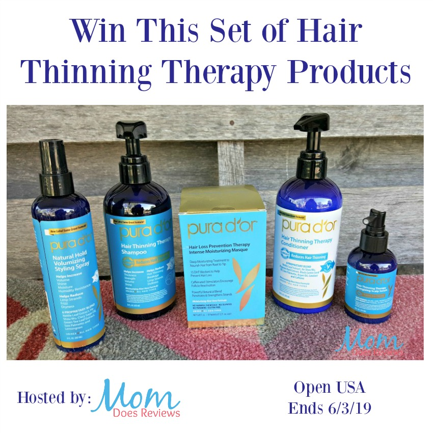 Win This Set of Hair Thinning Therapy Products