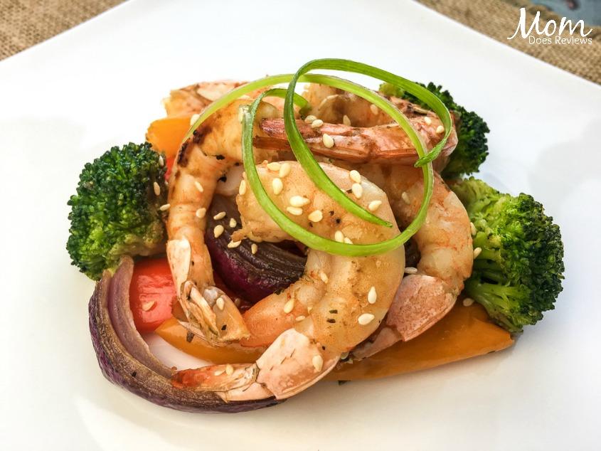 Roasted Asian Shrimp & Vegetables- Sheet Pan #Recipe