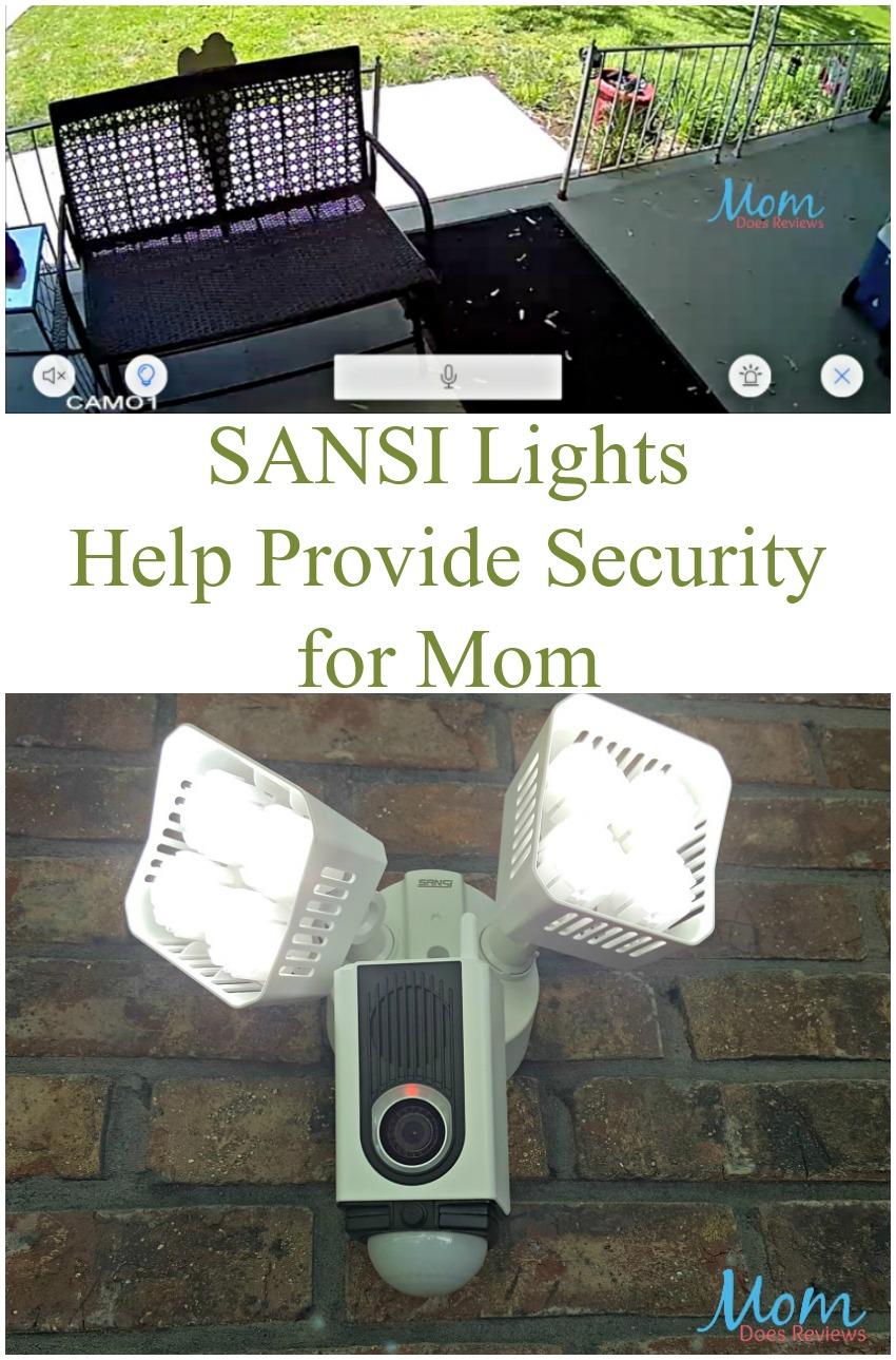 SANSI Lights Help Provide Security for Mom