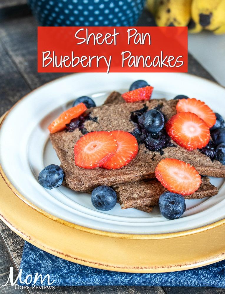Sheet Pan Blueberry Pancakes #recipe #breakfast #pancakes #food #berries
