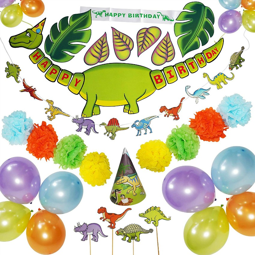 Everything You Need For a Dinosaur Birthday Party From Rusento