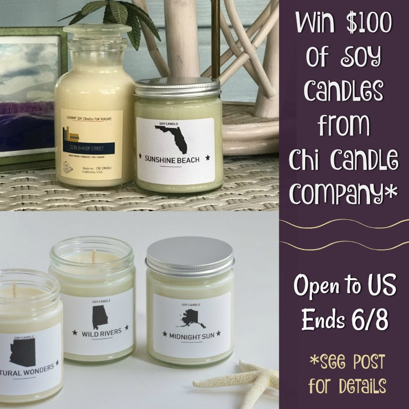 #Win $100 of Soy Candles from Chi Candle Company, US only, ends 6/8 #SuperDadGifts19