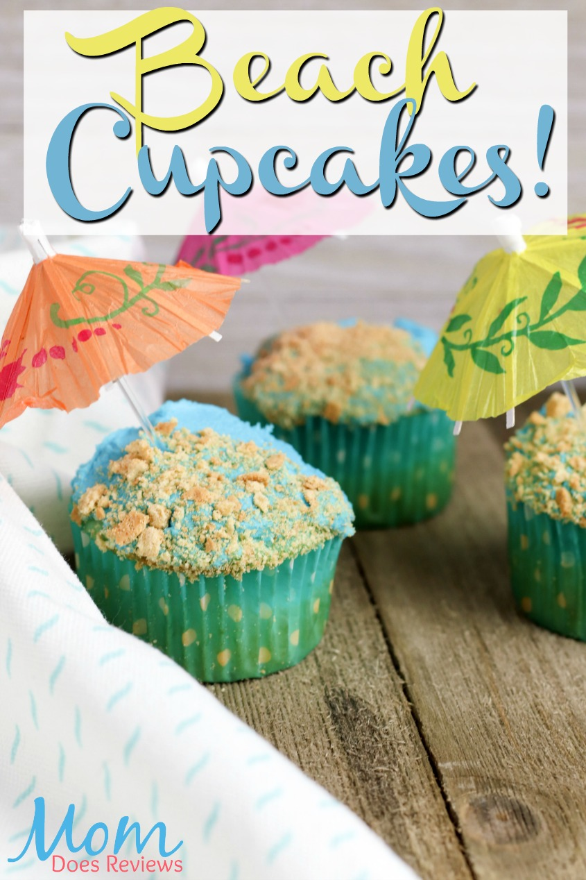 Get Ready for Summer with Beach Cupcakes! #recipe #diy #cupcakes #summer #funfood #desserts