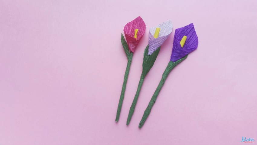 How to Make a Crepe Paper Calla Lily
