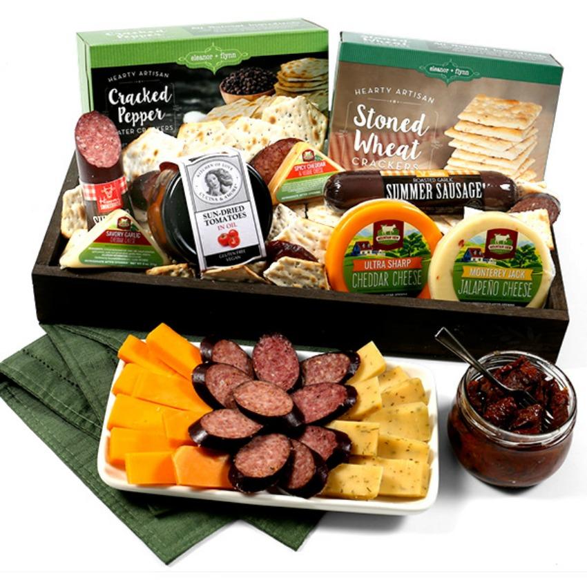 GourmetGiftBaskets.com Gourmet Meat & Cheese Sampler - Deluxe